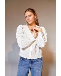 Glamorous Ruffle Collar Blouse - Multicolour