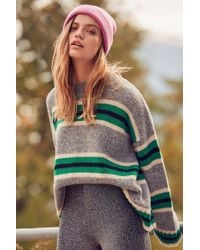 Lyst Urban Outfitters Uo Cable Knit Cut Out Sweater In Gray