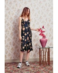 Urban Outfitters - Uo Betsy Satin Tie-front Midi Dress - Lyst