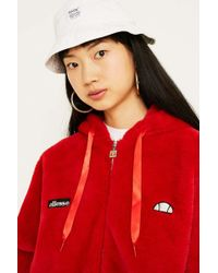 Ellesse Giovanna Faux Fur Red Coat