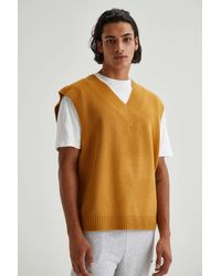 Urban Outfitters Uo Solid Sweater Vest - Brown