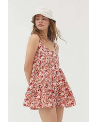 Urban Outfitters Uo Cindy Tiered Ruffle Romper