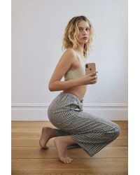 Urban Outfitters - Uo Chance Striped Linen Pull-on Pant - Lyst