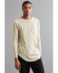 Urban Outfitters - Curved Hem Knit Long Sleeve Tee - Lyst