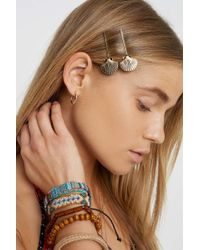 Urban Outfitters Shell Hair Clip Set - Metallic