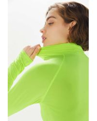 Project Social T Shiny Turtleneck Top - Green