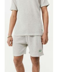 Urban Outfitters Uo Ecru Waffle Loungewear Shorts - Multicolour