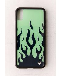 Wildflower Neon Flame Iphone Case - Green