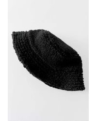 Urban Outfitters Uo Sherpa Bucket Hat - Black