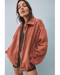 BDG Unlined Corduroy Harrington Jacket - Orange