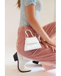 Urban Outfitters Super Mini Trapezoid Crossbody Bag - White