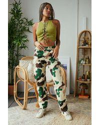 Stan Ray Camo Print Double Knee Trousers - Green