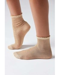 Urban Outfitters Scallop Sheer Crew Sock - Multicolor