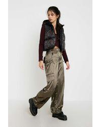 Urban Renewal Inspired By Vintage Khaki Ufo Cargo Trousers - Green