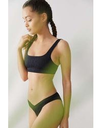 Out From Under Sunny Crop Bikini Top - Black