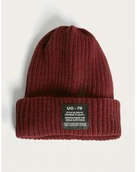 f6aaac66492 Champion Script Burgundy Beanie - Mens All in Red for Men - Lyst