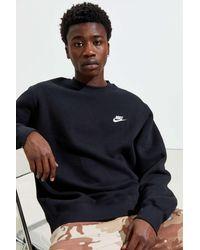 Nike Sportswear Club Fleece Crew Neck Sweatshirt - Black