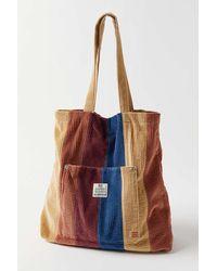 BDG Patchwork Corduroy Tote Bag - Multicolour
