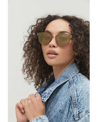 Urban Outfitters Brooke Round Cat-eye Sunglasses - Multicolor