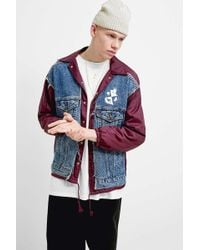 Liam Hodges Uo Exclusive Reworked Denim And Nylon Jacket - Blue