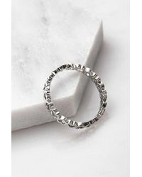 Urban Outfitters Delicate Heart Band Ring - Metallic
