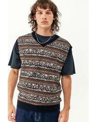 iets frans... Paisley Knit Vest - Blue