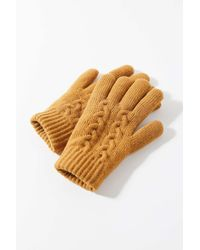 Urban Outfitters Cable Knit Chenille-lined Glove - Multicolour