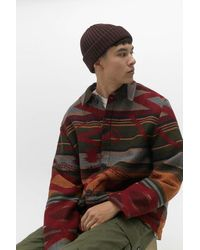 Urban Outfitters Uo Donkey Red Geo Print Chore Jacket