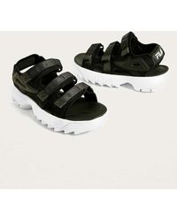 Fila - Disruptor Black Sandals - Womens Uk 6 - Lyst