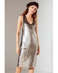 Urban Outfitters - Uo Tessa Sequin Tank Midi Dress - Lyst