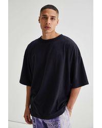 Standard Cloth Modern Mock Neck Tee - Black