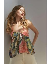 Urban Outfitters Uo Alexa Babydoll Top - Multicolor