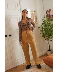 Wrangler Corduroy Straight Jeans - Brown
