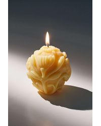 Urban Outfitters Floral Beeswax Candle - Multicolor