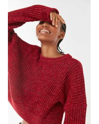Urban Outfitters Uo Big Sur Ribbed Pullover Sweater - Red