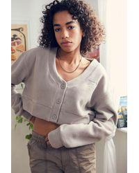 Reebok Classics Grey Wide Knit Cardigan