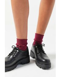 Urban Outfitters Uo Ruffle Crew Sock - Red