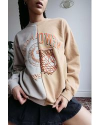 Urban Outfitters Uo Spliced Orleans Sweatshirt - Yellow