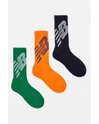 New Balance Orange, Green & Blue Crew Socks 3-pack