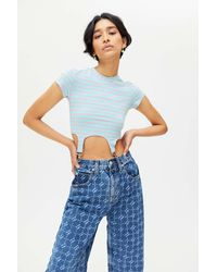 The Ragged Priest Dreamer Cropped Tee - Blue