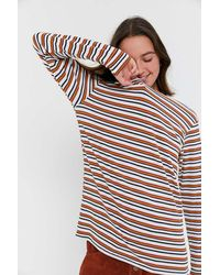 Project Social T - Striped Thermal Tunic Top - Lyst