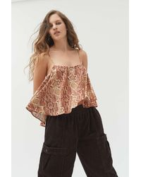 Urban Outfitters Uo Cristian Ruffle Cami - Multicolor