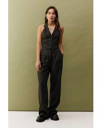 Urban Renewal Urban Outfitters Archive Black Pinstripe Halterneck Waistcoat
