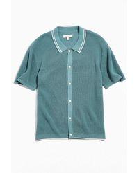 Standard Cloth Waffle Stitch Polo Shirt - Green
