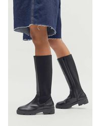 Urban Outfitters Uo Becky Tall Boot - Black