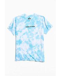 Urban Outfitters Take It Easy Tie-dye Tee - Blue