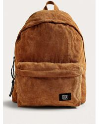 BDG Tan Corduroy Backpack - Natural