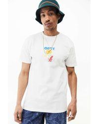 Obey UO Exclusive - T-Shirt Corben in Weiß