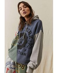 Urban Outfitters Uo Collegiate Patch Hoodie - Grey