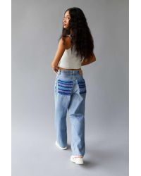 Urban Outfitters Urban Renewal Recycled Yarn Dye Back Pocket Patch Jean - Blue